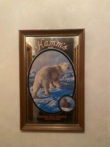 Hamms wildlife beer mirror polar bear exc con