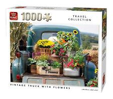 King Vintage Truck With Flowers  Jigsaw Puzzle (1000 Pieces)