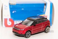 Land Rover Evoque Red, Bburago 18-30010, scale 1:43, toy car model boy gift