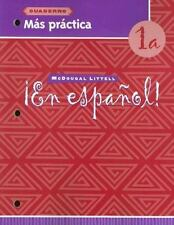 En espaol!: Ms prctica cuaderno Level 1A Spanish Edition
