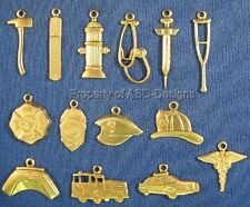 70pc Raw Brass Emergency Rescue Medical Charms Lot 4323