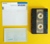 MC Musicassetta SONY HF-ES 90 es90 vintage compact cassette tape USATA no agfa