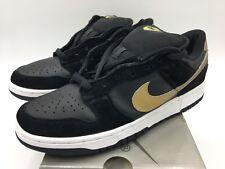 separation shoes 37c34 c520c 2003 Nike Dunk bajo Pro SB Takashi Negro Metálico Oro en tamaño 9 Vintage