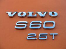 01 02 03 04 05 06 07 08 09 VOLVO S60 2.5 T REAR LID EMBLEM LOGO BADGE SIGN SET