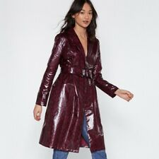 snake print coat Faux Leather