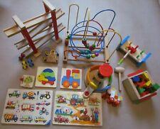 Paket 12 Teile Holz Spielzeug Puzzle Auto Rutschbahn Hammerspiel Ravensburger ..