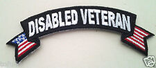 *** DISABLED VETERAN *** Military  Veteran Rocker Patch  P1555  E