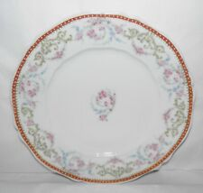 Antique THEODORE HAVILAND LIMOGES France Gold Trim DINNER PLATE Pink Roses ++