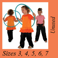 FF Toddler Girls Ruffle Singlet Dress Tops Pants Jeans Burda 9611 Sewing Pattern