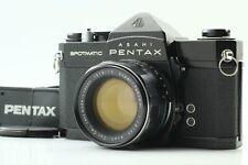 [Exc+5] Pentax Spotmatic SP Black w/ Super Takumar 55mm f/1.8 Lens From Japan