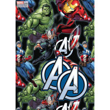 Marvel Avengers wrapping paper - Gift Wrap 2 sheets 49cm x 70cm Hulk Thor
