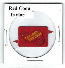 Red Coon Chewing Tobacco Tag Taylor Tips Intact Litho R290