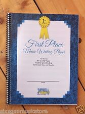 First Place Music Writing Paper Notebook, Blank Sheets, Piano Manuscript