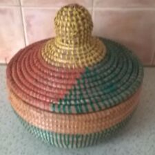 HAND MADE BASKET FROM WEST AFRICA , CAN BE USED FOR STORAGE OR FOOD TO KEEP WARM
