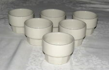 Hall Restaurant White Stacking Custard or Sugar Cups 2978 - Set of Six