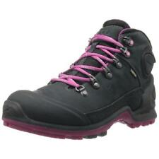 ECCO 9496 Womens Biom Terrain Black Leather Mid Hiking Boots Shoes 8/8.5 BHFO