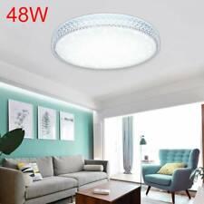 48W LED Deckenleuchte Kristall Deckenlampe Wandlampe Kaltes Weiß Flur Rund