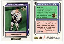 1X BOBBY ORR 1999 00 Upper Deck Retro #G4B GENERATIONS INSERT Lots Available