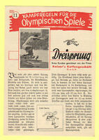 Orig.PRG / Rules   XI. Olympic Games BERLIN 1936 - TRIPLE JUMP  !!  VERY RARE