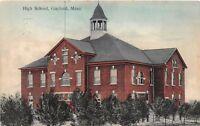 D73/ Gaylord Minnesota Mn Postcard 1910 High School Building