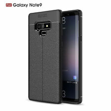 For Samsung Note 8 9 S8 Leather Ultra Thin TPU Soft Shockproof Back Case Cover