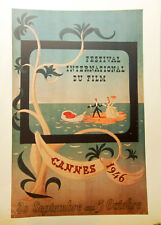 COLLECTION de 45 ANS de FESTIVALS de CANNES en AFFICHES-RARE portefolio N°1/1000