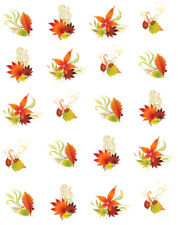 Fall Leaves and Swirls Waterslide Nail Decals/Nail Art