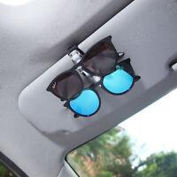 Glasses Sunglasses Eye Glasses Card Car Sun Visor Dual Clip Pen Holder