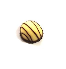 Perle Praline mini weiß aus Kautschuk ca 2,5cm mit Haken wie echt Neu 1x
