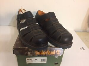 Timberland 84040 Dark Brown Leather Buckle Sandals Mens Size 12M NEW