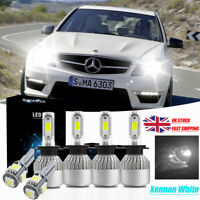 Ford Focus Mk1 H1 H7 501 55w Transparente Xenon Hid high//low//side Faros bombillas Set