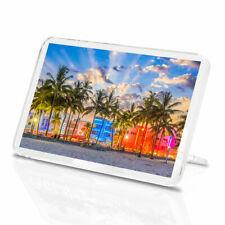 1 x Miami Beach Florida America Palm Trees Classic Fridge Magnet Kitchen #3464