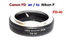 FD - Al   Canon FD Objektiv Lens Adapter an -To  Alle Nikon AI Kamera