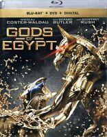 Gods of Egypt  Blu-Ray + DVD + Digital  Gerard Butler, Brenton Thwaites   New