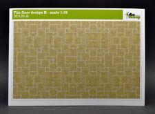 DioDump DD135-H Tile floor design H - 1:35 scale diorama building accessories