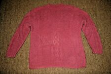 """COMPAGNIE INTERNATIONALE """"EXPRESS"""" MAUVE/ROSE PATCHWORK SWEATER  SIZE S"""
