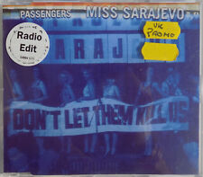 U2 CD Miss Sarejevo PASSENGERS 4 Trk UK PROMO ONLY w/ PROMO RADIO Edit Skr +Skr