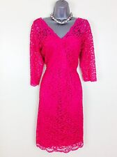 M&Co Boutique  BNWT Size 14 Pink Fitted Lace Pencil Dress RRP £79