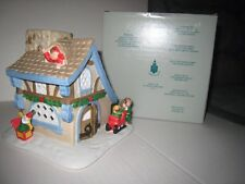 Vintage Partylite Santa's Workshop Partylite House Tealight Candle Holder; P0269