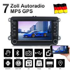 7 Zoll Autoradio Android 8.1 Bluetooth GPS SAT Navi Für VW GOLF 5 V PASSAT Polo