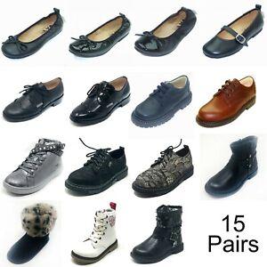 Wholesale Job lot Top Brands Children Shoes 15 Pairs Mix Sizes Retail over £675