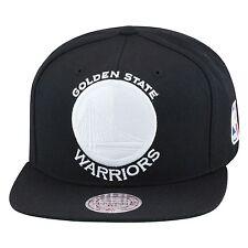 Mitchell & Ness Golden State Warriors Snapback Hat All Black/WHITE jordan 1 OG 3
