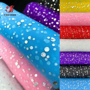 "7pcs 6"" 10Yards Glitter Sequin Tutu Tulle Roll Dress Wedding Bow Party Craft DIY"