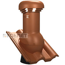 Entlüfterkamin PRO DN150 für Braas Frankfurter Dachziegel Dachlüfter Lüfter