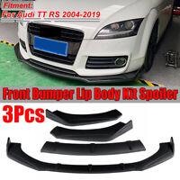 For Audi TT RS 2004-2019 3PCS Front Bumper Lip Protector Spoiler Splitter MATTE
