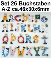 26x HOLZBUCHSTABEN A-Z basteln lernen Türschild Alphabet ABC Namensschild