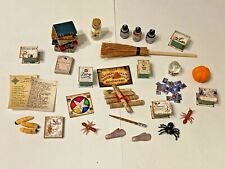 MIXED LOT OF HALLOWEEN  WITCHES  ACCESSORIES FOR A 1/12 SCALE DOLLS HOUSE