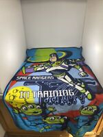Disney Toy Story Throw Blanket Plush Buzz Space Rangers In Training 45 x 30
