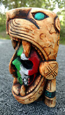 Maya Mayan Mask Head Aztec Inca Statue Sculpture Wall Plaque Calendar Aztlan Art