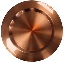 Conjunto De 4 Acero Inoxidable Metal Cobre 33cm Redondo Cargador Platos Bajo